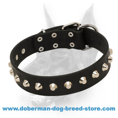 Exquisite and Practical Leater Doberman Dog Collar 'Daily Elegance'