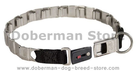 24 inch STAINLESS STEEL Sprenger dog collar NECK TECH COLLAR for Doberman