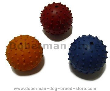 Rubber Squeaky Ball Dog Toy 2 3/8''(6cm)