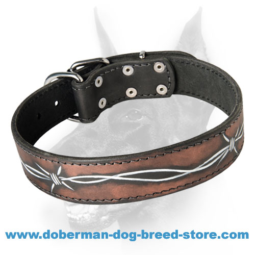 Wondrous Doberman Collar Painted By Hand - Unique Buckle Collar