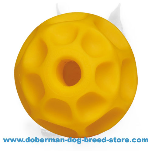 Doberman Dog Tetraflex Ball for Treats and Kibbles - Large Size