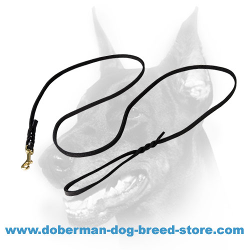 Braided Doberman Dog Show Leash of Exquisite Workmanship
