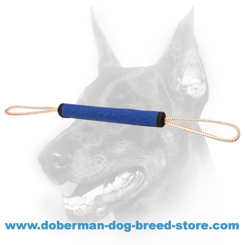 Doberman Puppy Training Bite Tug with Sturdy Rope Handles
