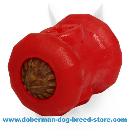 'Yammy Bobbin' Doberman Dog Rubber Toy Treat Dispenser - Medium Size