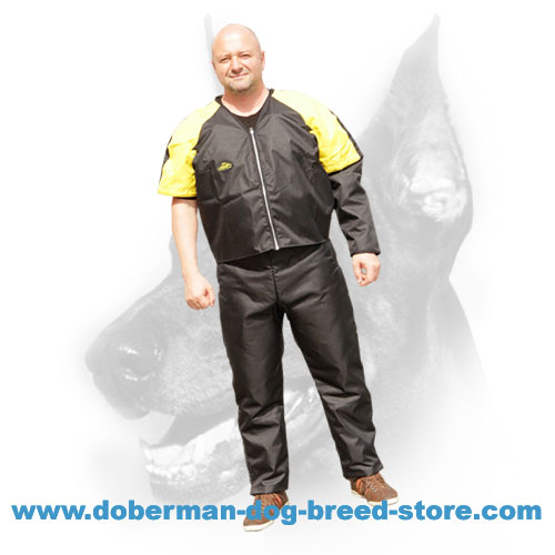 Doberman Nylon Schutzhund Scratch Suit for Dog Trainer