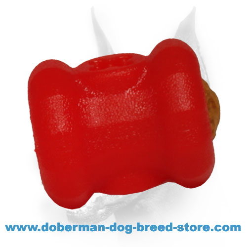 'Fire Plug' Doberman Dog Rubber Toy Treat Dispenser - Small Size