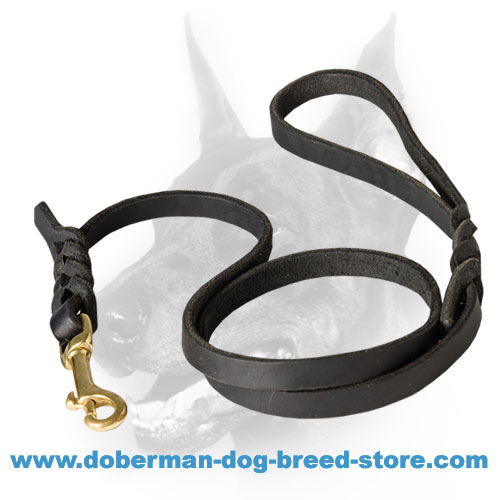 Doberman Dog Handcrafted Leather Leash for Walking/Shows