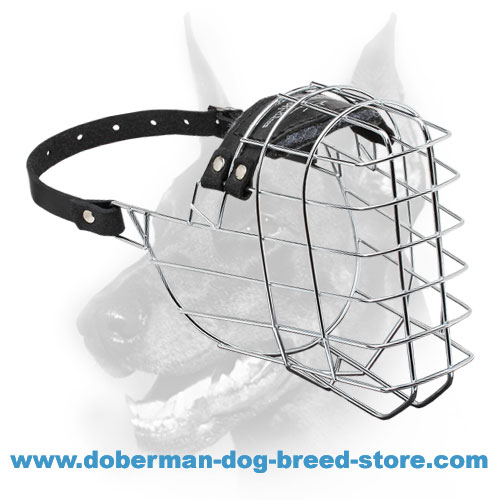 'The Silencer' Wire Basket Muzzle for Dobermans - Cage Dog Muzzle