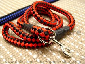Cord nylon dog leash for large dogs - Click Image to Close