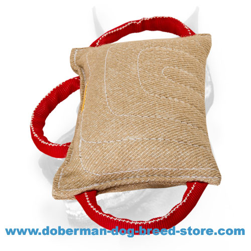 Jute Dog Bite Training Pad Equipped with 3 Handles for Young and Adult Canines