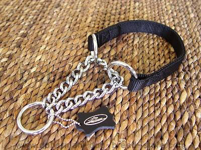 All Weather Choke Nylon Martingale chainDog Collar for Doberman dog