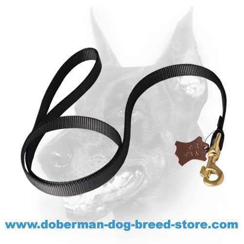 Prifessional tracking Doberman lead with easy-to-use snap hook