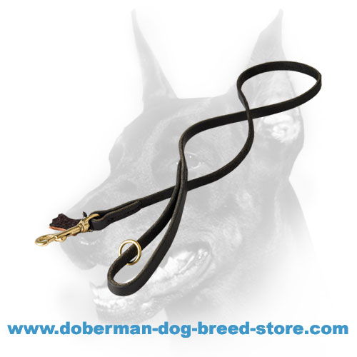 Multifunctional Leather Doberman dog leash 1/2 inch (12 mm) wide