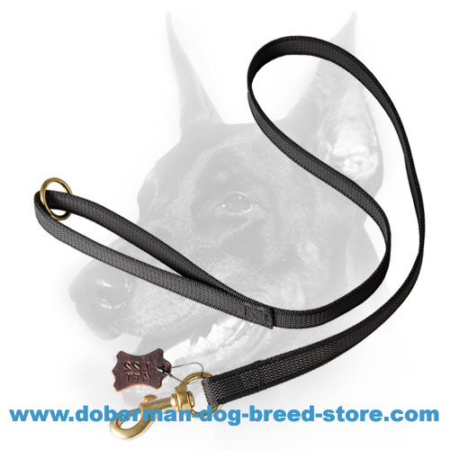 Practical Doberman dog leash made of nylon