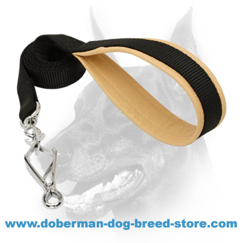 Dog nylon leash for dealing with Doberman