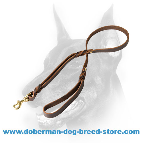 Soft Doberman Dog Leash 3/4 inch (20 mm) wide