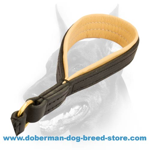 First-class leather leash with convenient handle