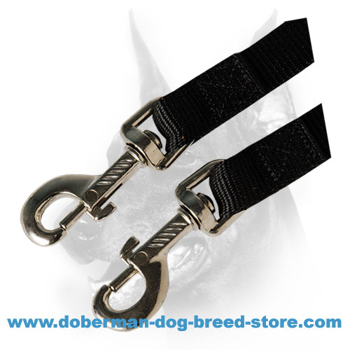 Rust resistant hardware of doberman dog nylon coupler lead