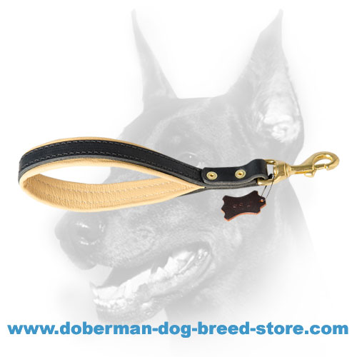 Durable shoert canine leash with comfortable soft handle