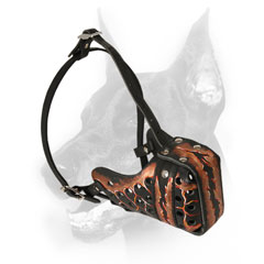 Attack/agitation training Doberman Muzzle padded for dog's comfort