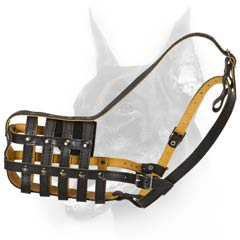 Leather durable dog muzzle