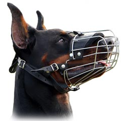 Superior wire cage dog muzzle