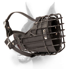 Doberman muzzle metal rubber covered basket for winter